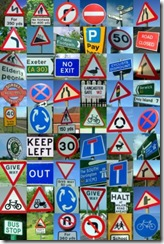 Road Sign Montage