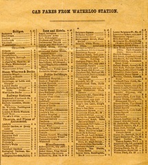 Cab fares from Waterloo Station