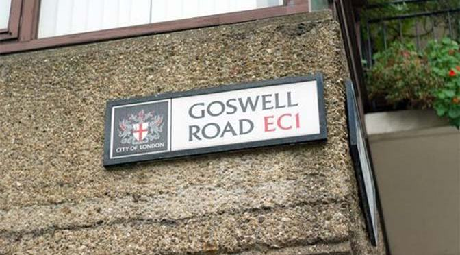 Where is Goswell Street Road?